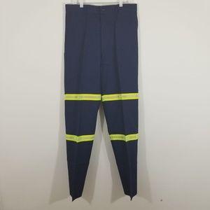 G&K services Pants - Navy Blue Reflective Visibility Work Uniform Pants